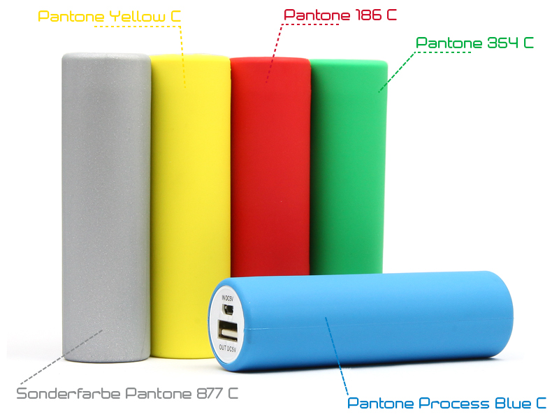 Mobile Powerbanks in Sonderfarbe