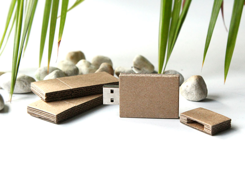 Corrugated Paper USB Flash