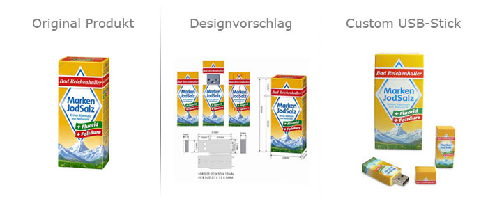 Artwork Salzpackung Custom USB Stick