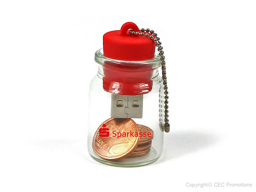 USB-Stick Flaschenpost