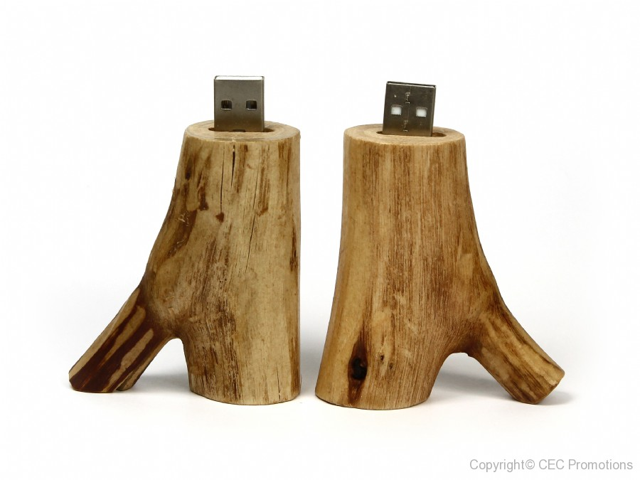 USB-Stick Holzast hell