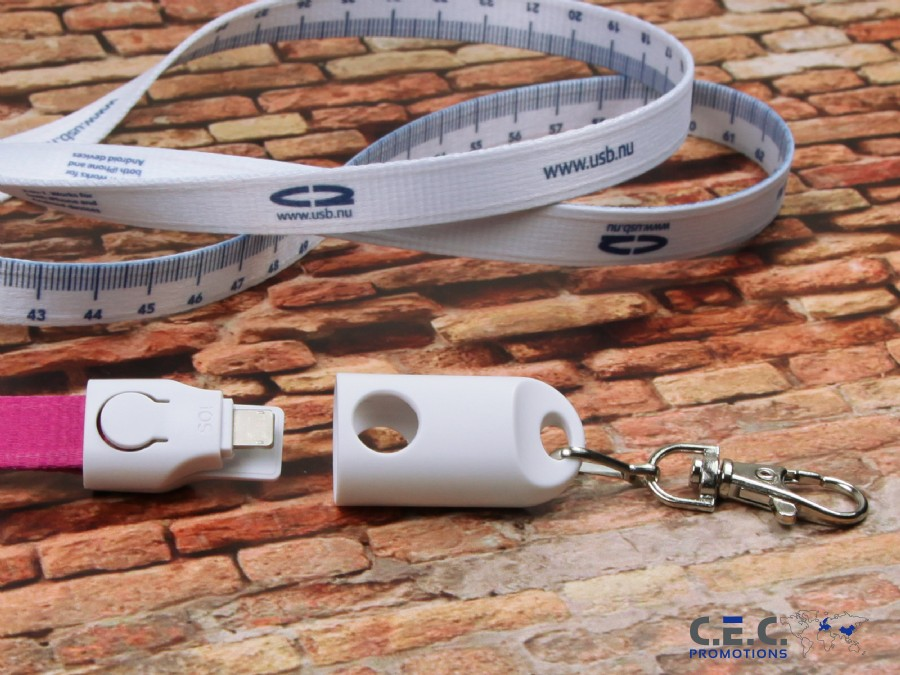 2-in-1 Lanyard Ladekabel