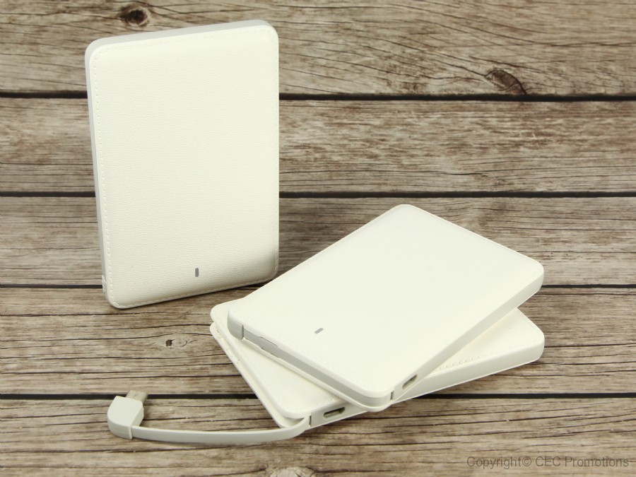 Powerbank Card Lederoptik