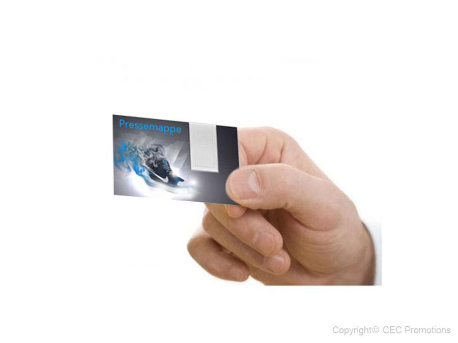 Paper Usb Visitenkarte Mit Integriertem Usb Stick Flach
