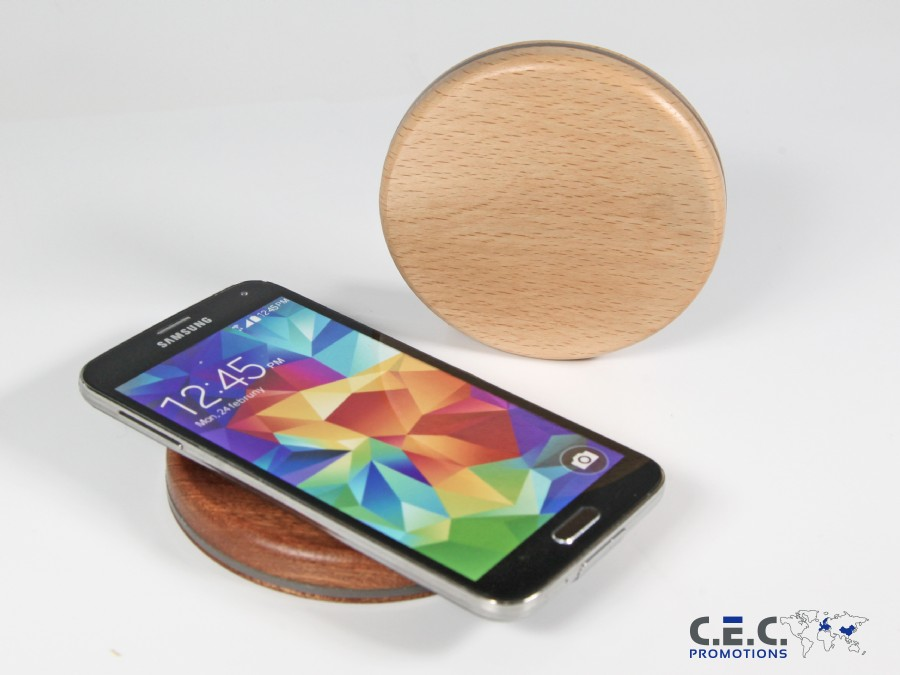 Wireless Charger Vollholz