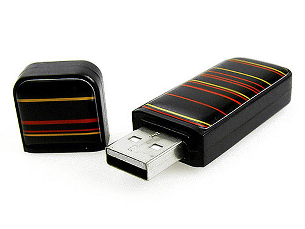 USB Stick aus Kunststoff mit Doming Sticker Doming.01