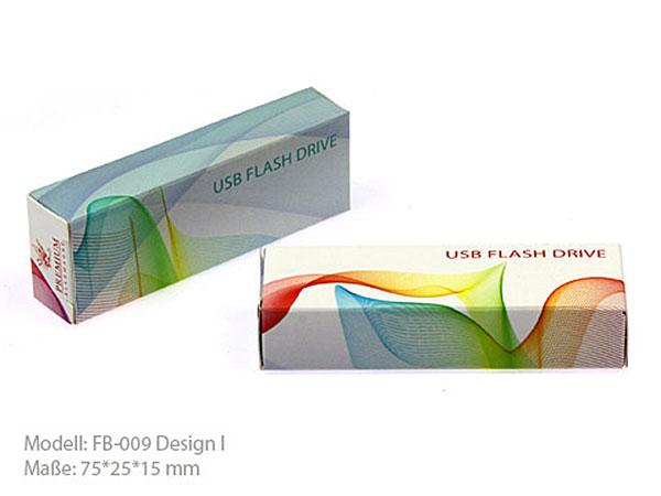 Bedruckte USB Faltschachtel als Geschenkverpackung