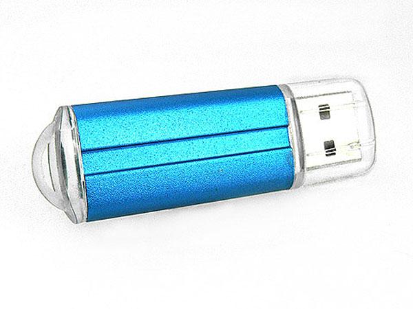 Eleganter USB Stick aus Kunststoff, Alu-Optik