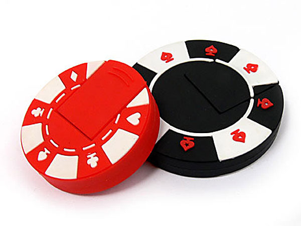 USB-Stick in Form eines Casino Chips