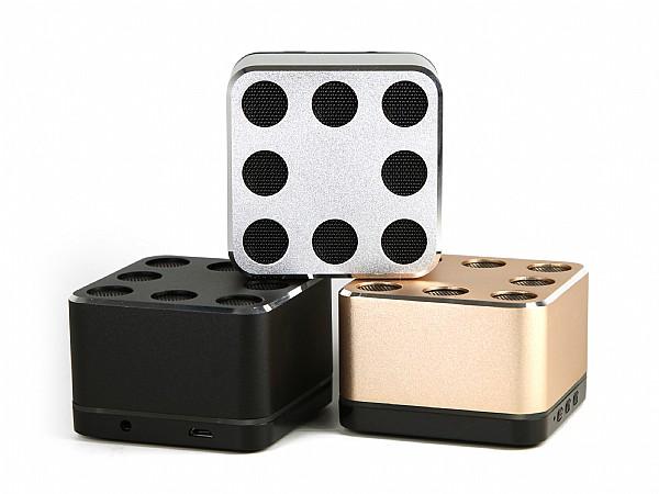 Hochwertiger Bluetooth Speaker aus Metall - Paolo