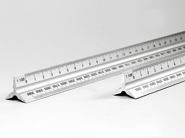 Metall Lineal 30 cm bedruckbar mit Logo oder eigener Skala