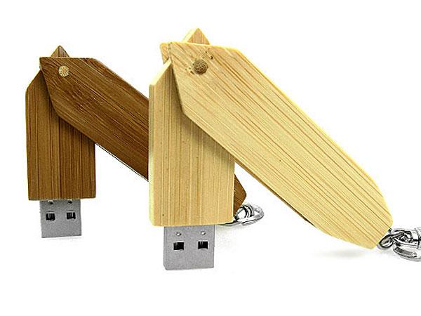 Länglicher herausdrehbarer Holz USB-Stick