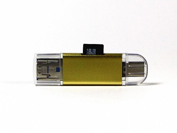 USB Rochus mit SD Karte USB Typ-C Stecker als Werbegeschenk