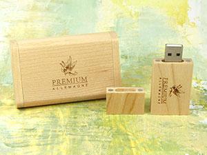 USB Stick Holz Geschenkschatulle hell