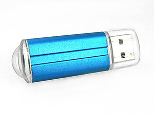 Eleganter USB Stick aus Kunststoff, Alu-Optik