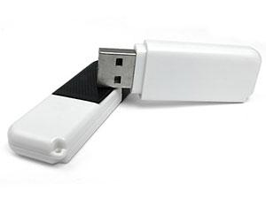 Schlichter Kunststoff USB-Stick, schwarz-weiß