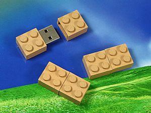 Biokunststoff Brick USB-Stick