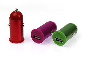 Einfaches USB Autoladegerät mit Logo als Werbemittel