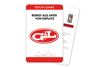 Ovaler Display Cleaner als Werbemittel