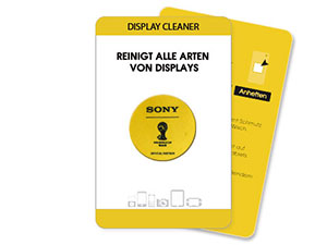 Runder Display Cleaner mit Werbeaufdruck 30*30 mm