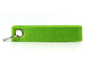 Filz Schlüsselband in verschiedenen Farben mit Werbeaufdruck