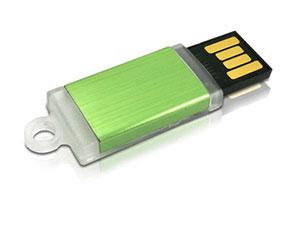 Ausschiebbarer Mini USB Stick, teilweise transp.