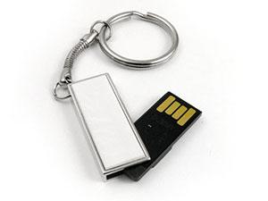 Schmaler Mini USB-Stick mit Schlüsselring