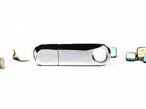 Highspeed USB-Stick 3.0 aus Vollmetall mit Logo bedurcken.