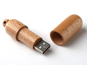 Runder Holz USB-Stick aus Holz