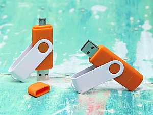USB-Stick Twister OTG USB aus Metall, Twister, OTG, USB
