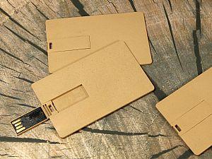 Biokunststoff Visitenkarte USB-Stick