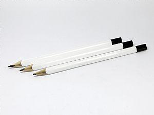 Zimmermannsbleistift 3-eckig weiß Multigrafstift