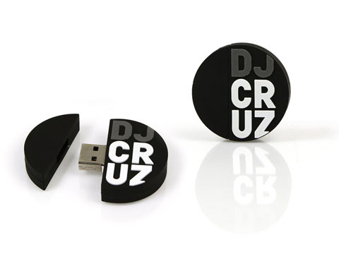 Runder USB-Stick in Logoform