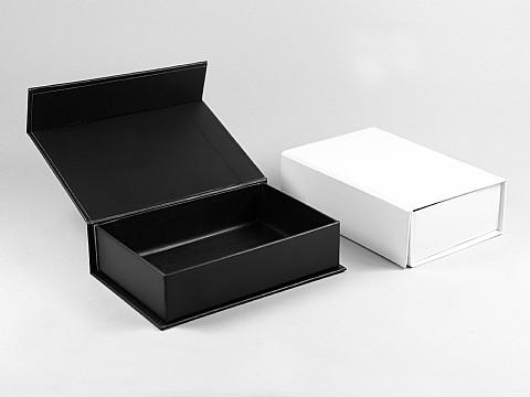 magnetklappbox geschenkverpackung schwarz weiss 125