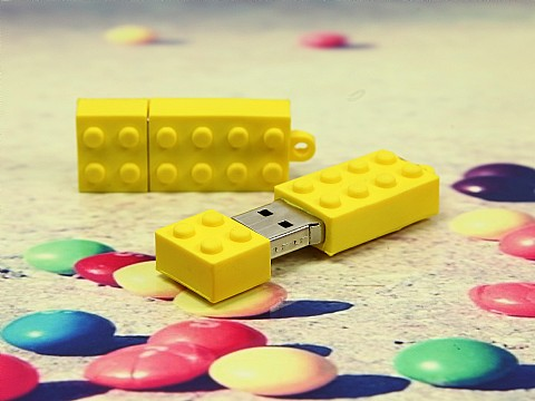 usb stick brick baustein