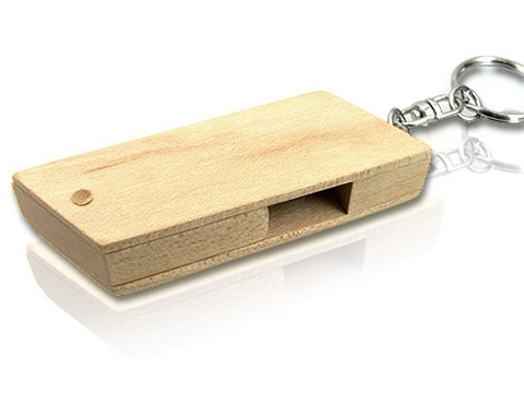 Holz USB Stick in Form eines Parallelograms