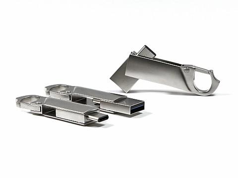 usb stick karabiner logo stecker