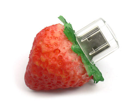 Fun USB Stick Erdbeere, USB-Stick Frucht