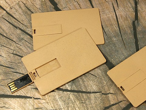visitenkarte usb stick pla bio kunststoff umweltschonend natur