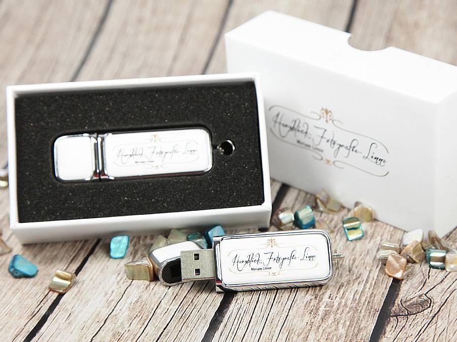 Fotografie Geschenk bundle USB Stick leder Set Verpackung logo