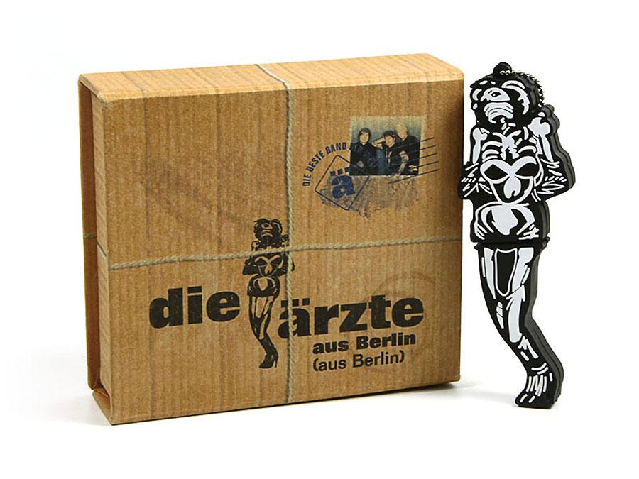 usb-stick-logo-freiform-100.html, Die Ärzte Figur Fanartikel Merchandise USB-Stick sonderanfertigung, CustomLogo, PVC