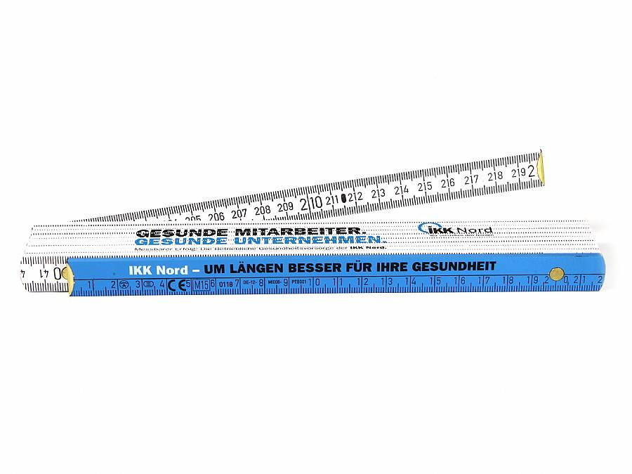 meterstab werbung lineal zollstock