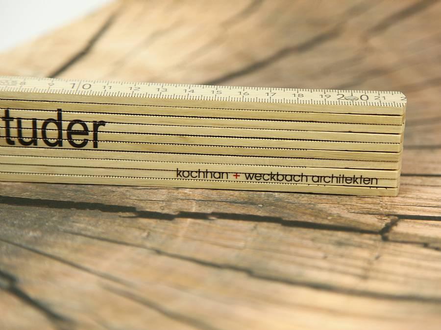 meterstab zollstock werbegeschenk logo