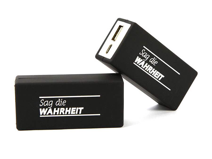 akku batterie logo druck schwarz custom verpackung power bank