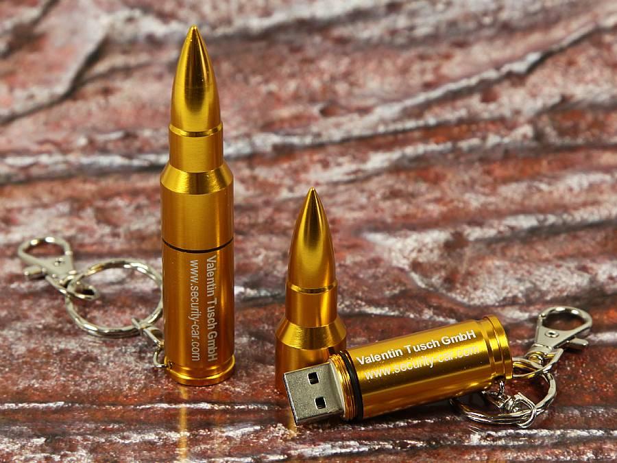 usb stick gewehrkugel kugel pistole werbung logo