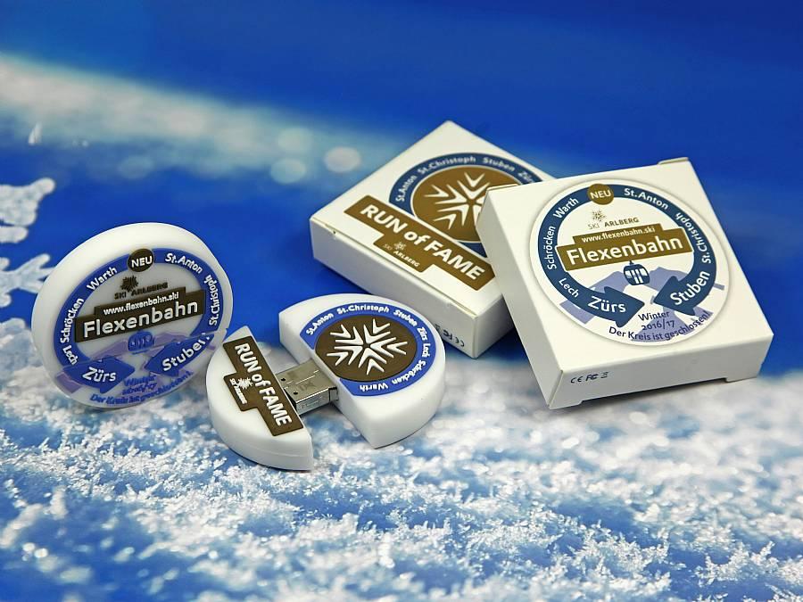 usb stick logo creativ ski schnee winter flexenbahn