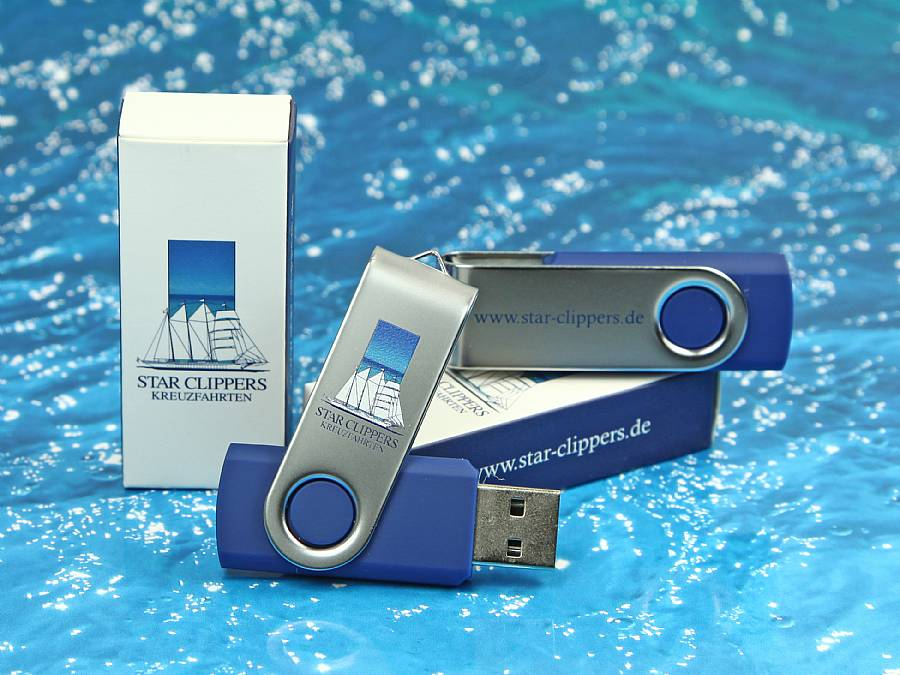 Twister USB-Stick mit Logo im Digitaldruck