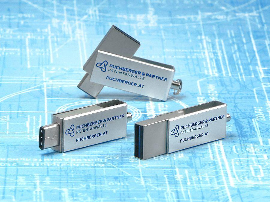 usb stick metall silber speed silber logo werbung