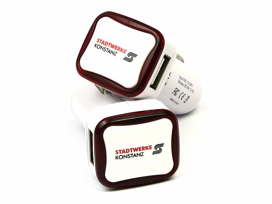 usb zigarettenanzuender ladegerät smartphone samsung adapter logo rot