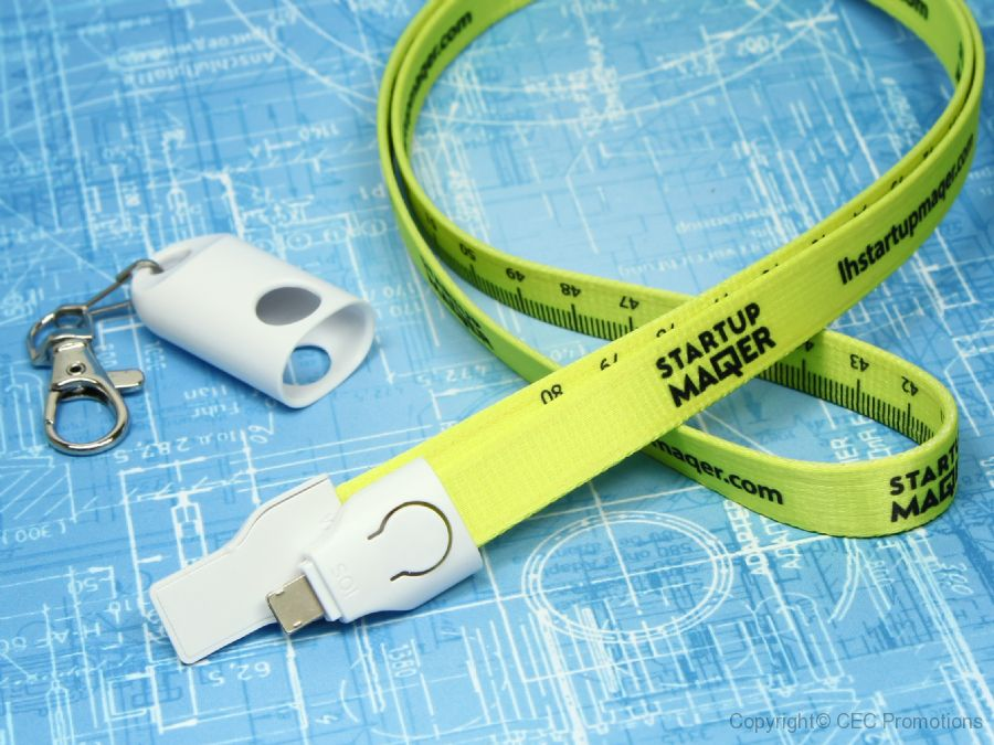 2 in 1 lanyard ladekabel kabel band bedruck logo
